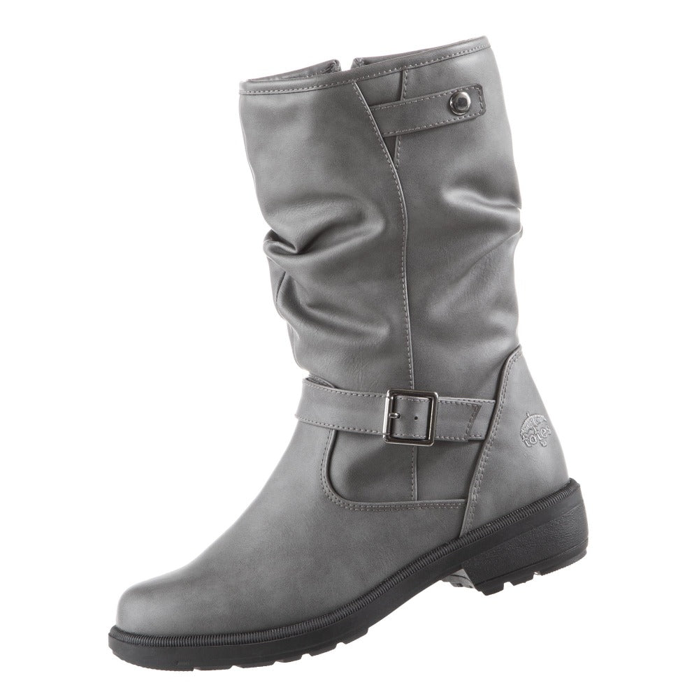 Women's Haggle Winter Boots in Grey Left Angled View