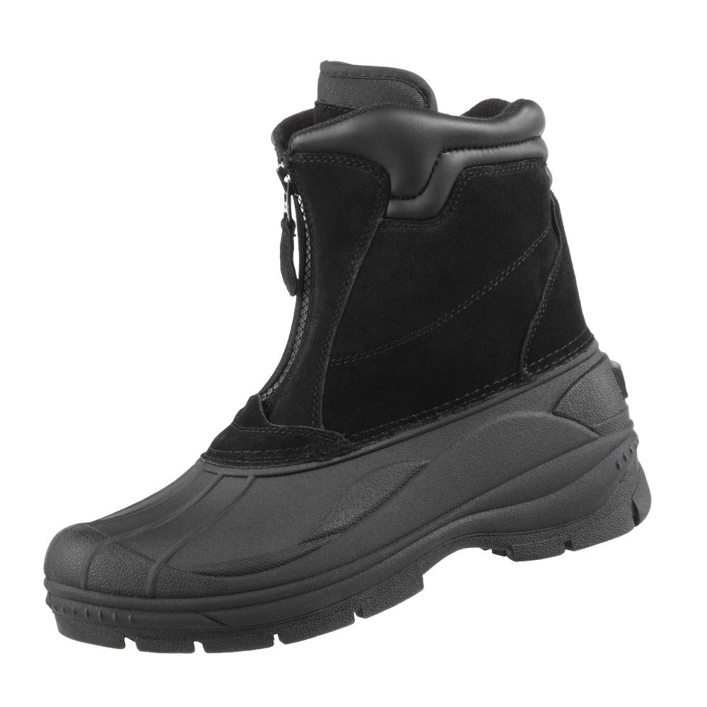 Men's Glacier Winter Boots in Black Left Angled View