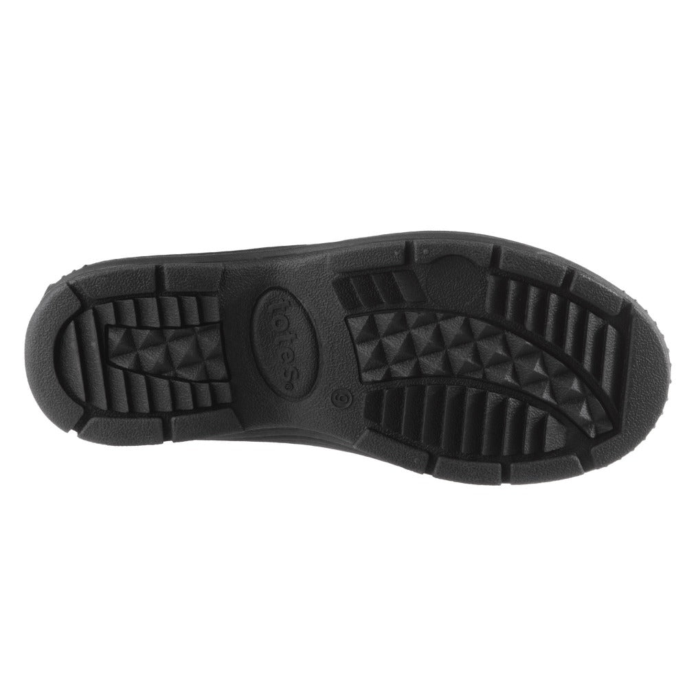 Men's Glacier Winter Boots in Black Bottom Sole Tread