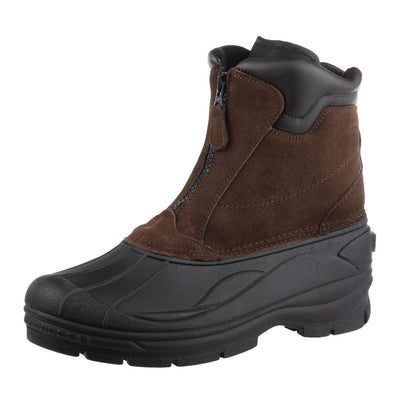 Men's Glacier Winter Boots in Brown Left Angled View