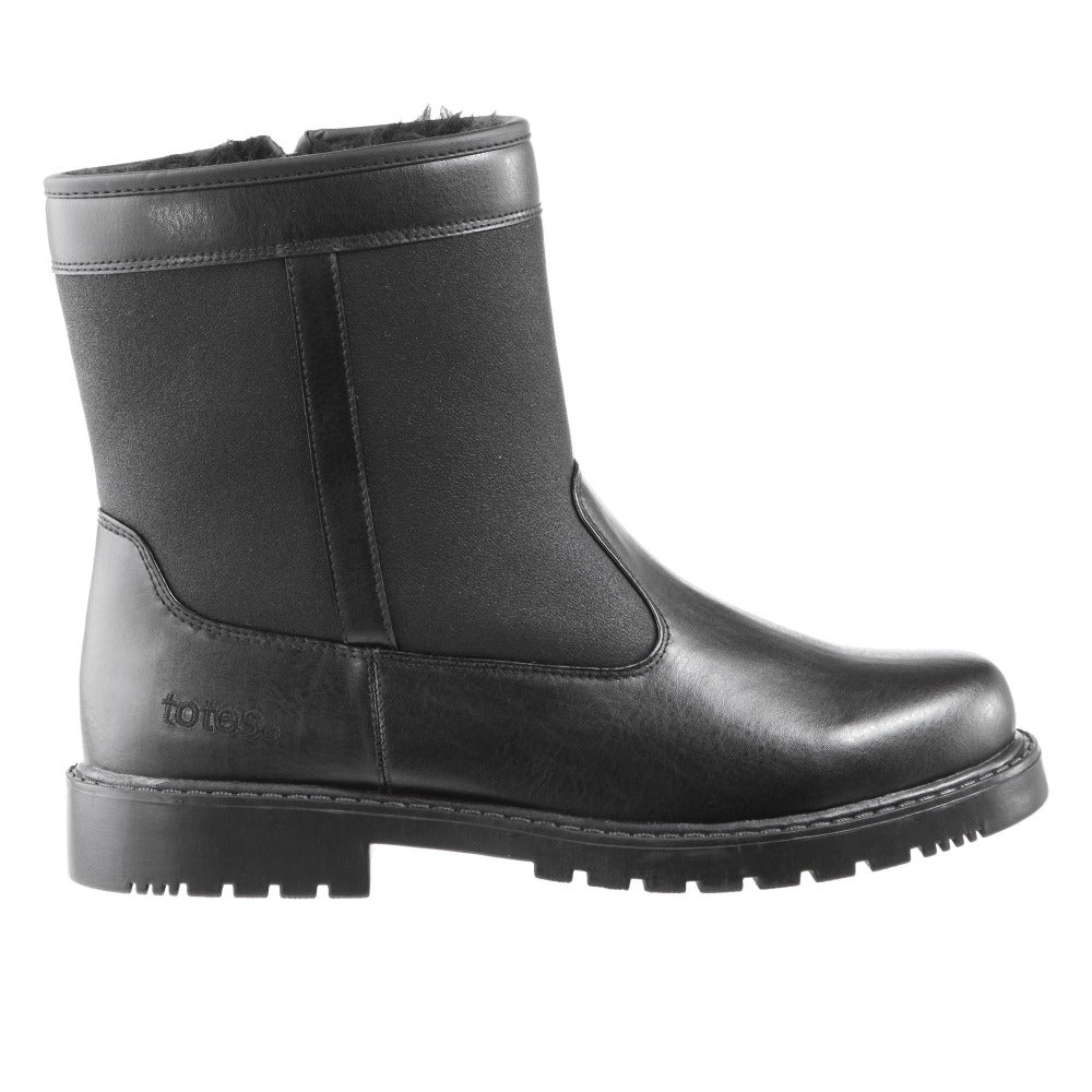 Men's Stadium Winter Boots in Black Profile