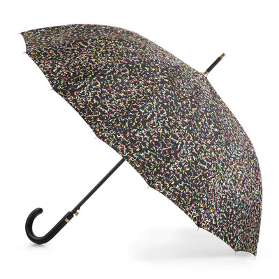 50th Anniversary Stick Umbrella in Sprinkles Open Side Profile