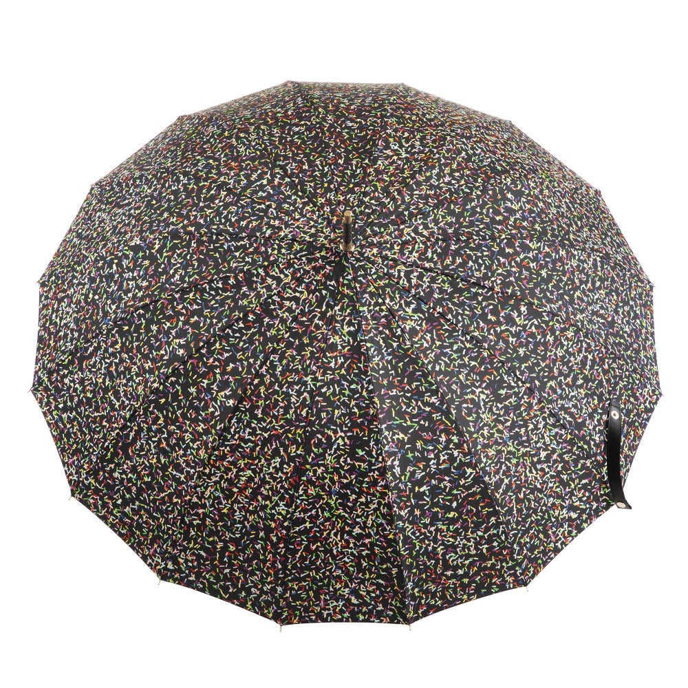50th Anniversary Stick Umbrella in Sprinkles Open Top View