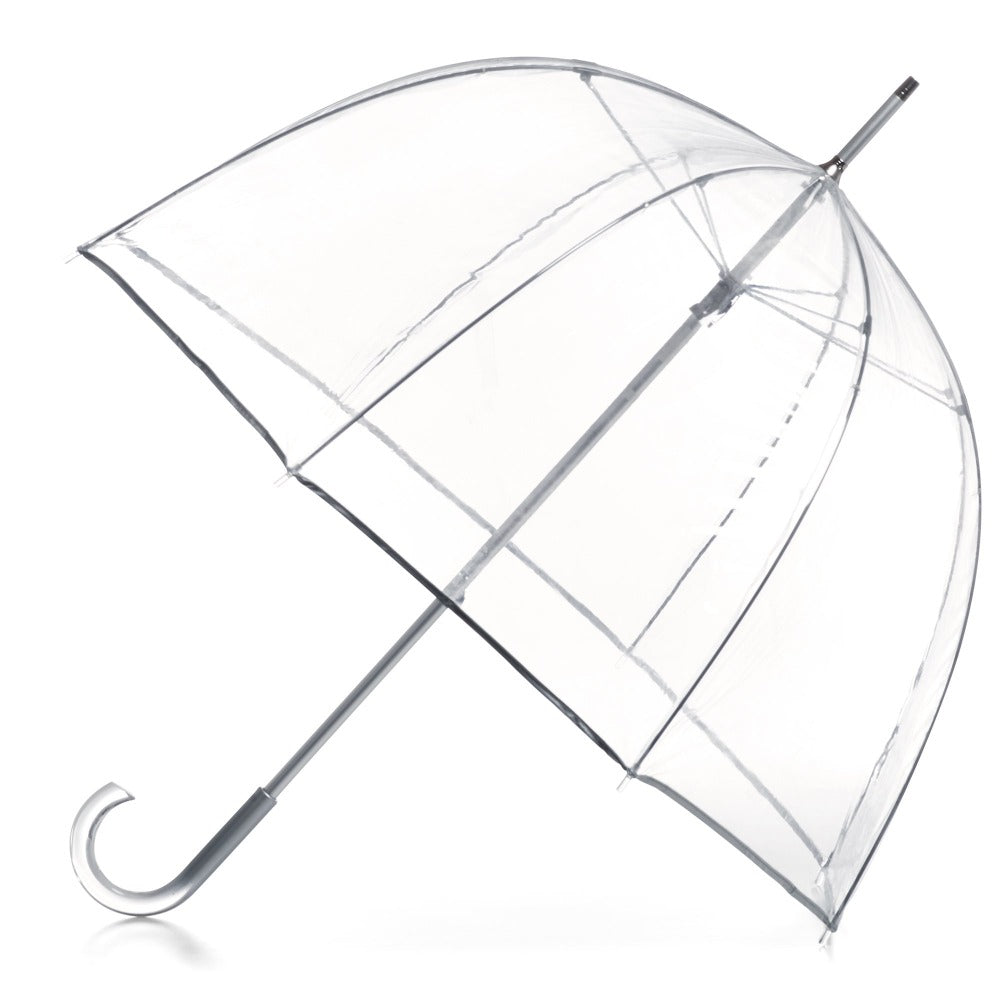 Signature Manual Clear Bubble Umbrella in Clear Open Side Profile