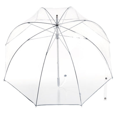 Signature Manual Clear Bubble Umbrella in Clear Open Top View