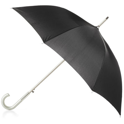 Signature Auto Open Stick Neverwet Umbrella in Black Open Side Profile