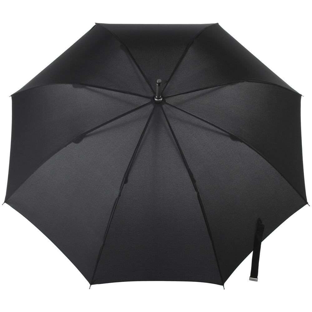 Signature Auto Open Stick Neverwet Umbrella in Black Open Top View