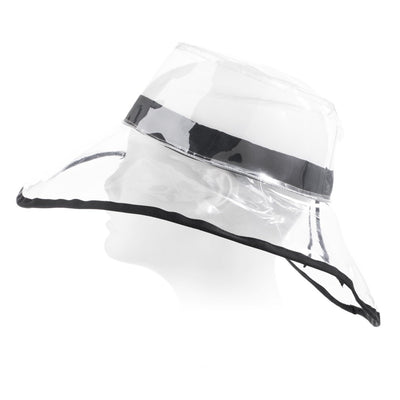 Women's Clear Wide Brimmed Rain Hat Side Profile