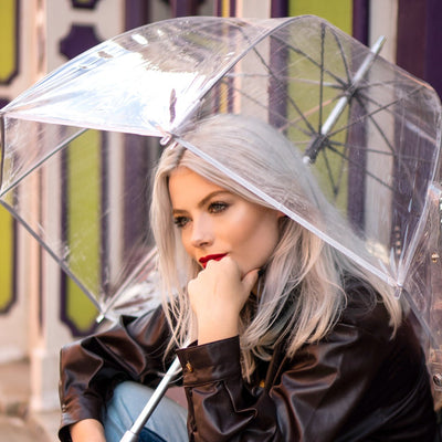 Totes Clear Bubble Dome Umbrella - Handheld Clear Umbrella