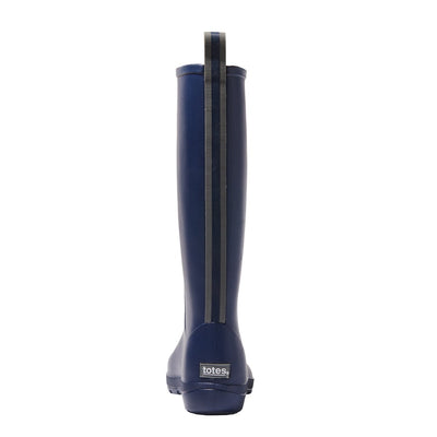 Cirrus™ Women's Claire Tall Rain Boots in Navy Blue Back