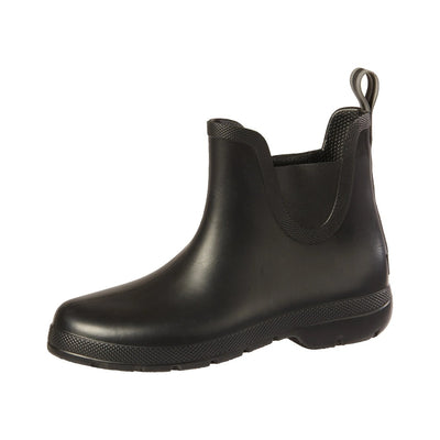Cirrus™ Women's Chelsea Ankle Rain Boots in Black Left Angled View
