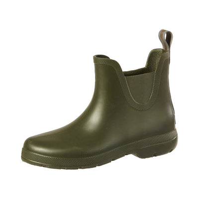 Cirrus™ Women's Chelsea Ankle Rain Boots in Loden Left Angled View
