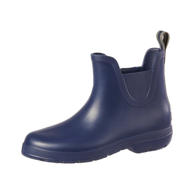 Cirrus™ Women's Chelsea Ankle Rain Boots in Navy Blue Left Angled View