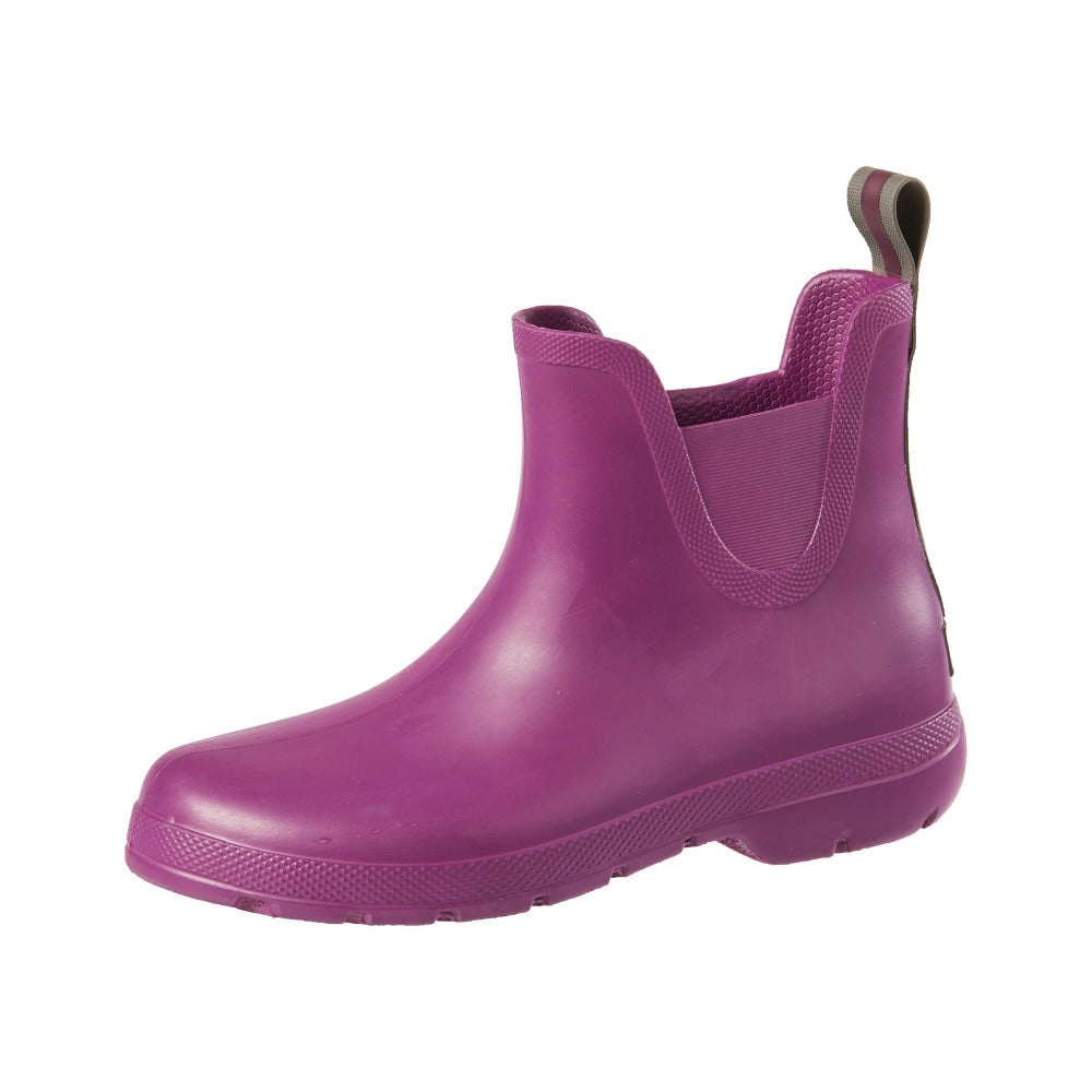 Cirrus™ Women's Chelsea Ankle Rain Boots in Red Grape Left Angled View
