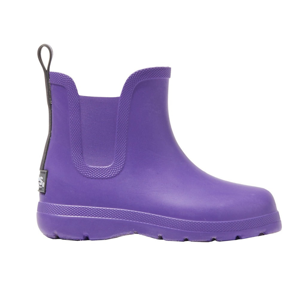 Cirrus Rain Boot Side Profile in paisley purple