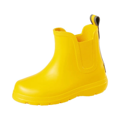 Cirrus™ Toddler's Chelsea Ankle Rain Boot in School Bus Left Angled View
