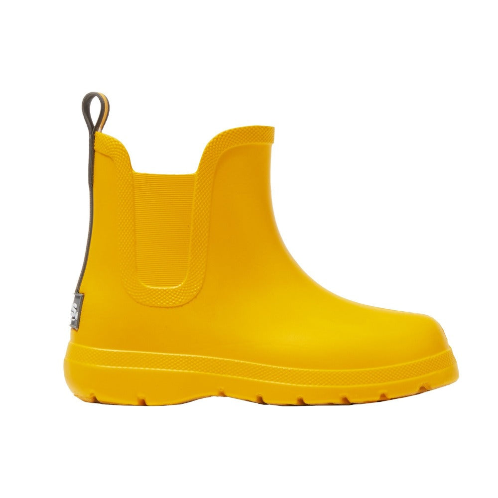 Cirrus™ Toddler's Chelsea Ankle Rain Boot in School Bus Profile