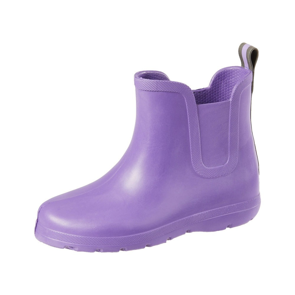 Cirrus™ Kid's Chelsea Ankle Rain Boot in Paisley Purple Left Angled View
