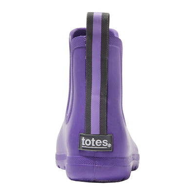 Cirrus™ Kid's Chelsea Ankle Rain Boot in Paisley Purple Back