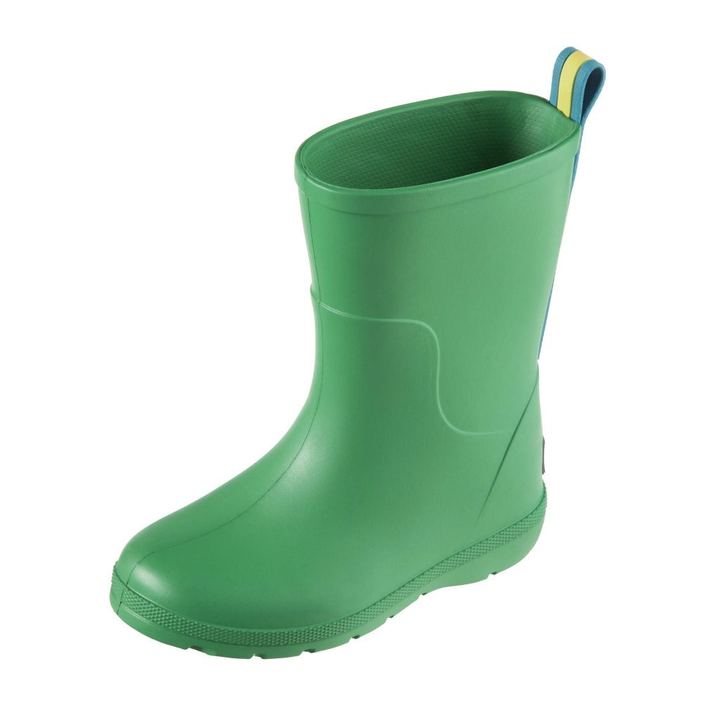 Cirrus™ Toddler's Charley Tall Rain Boot in Classic Green Left Angled View