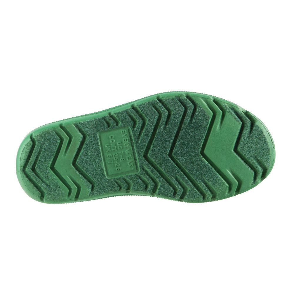 Cirrus™ Toddler's Charley Tall Rain Boot in Classic Green Bottom Sole Tread