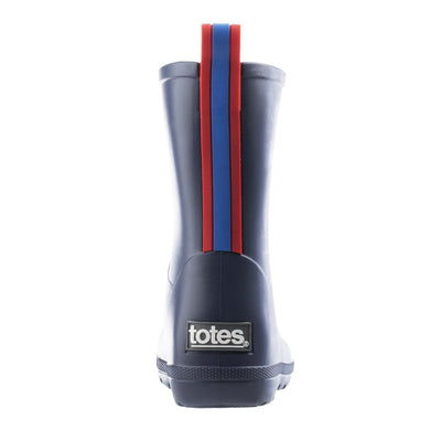 Cirrus™ Toddler's Charley Tall Rain Boot in Navy Blue with Red on Contrasting Stripe Back Heel
