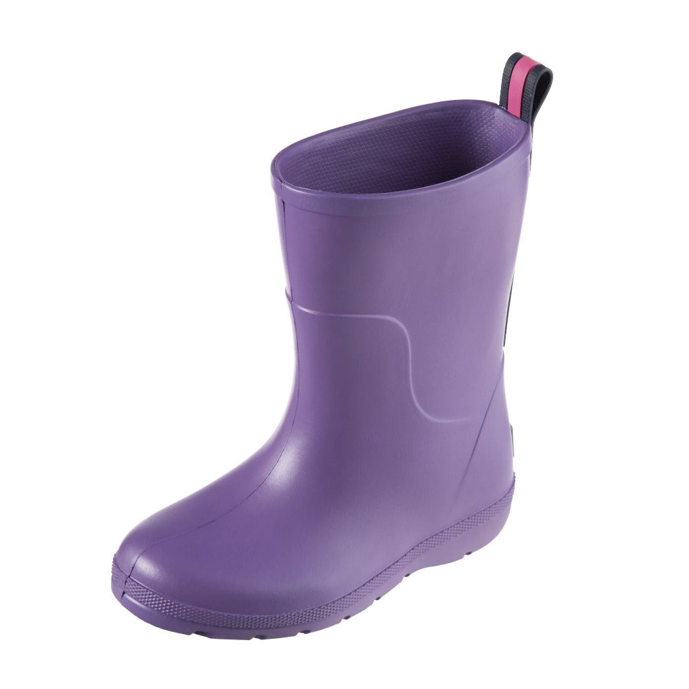 Cirrus™ Toddler's Charley Tall Rain Boot in Paisley Purple Left Angled View