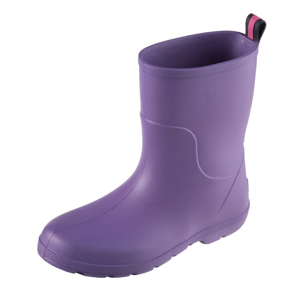 Cirrus™ Kid's Charley Tall Rain Boot in Paisley Purple Left Angled View
