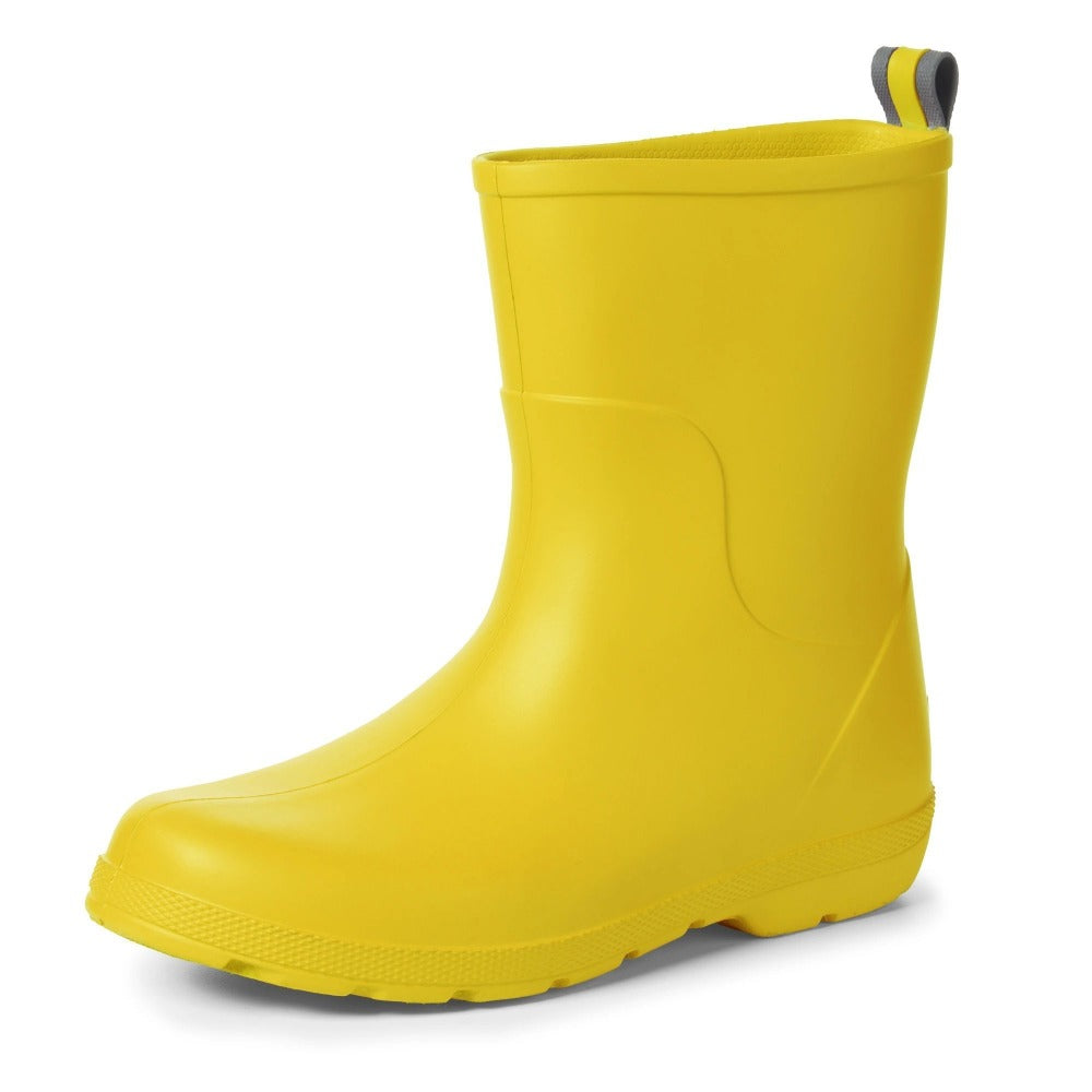 Cirrus™ Kid's Charley Tall Rain Boot in School Bus Left Angled View