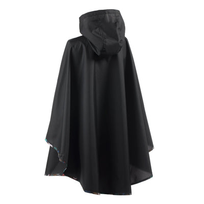 Women's Rain Poncho in Geometry Back
