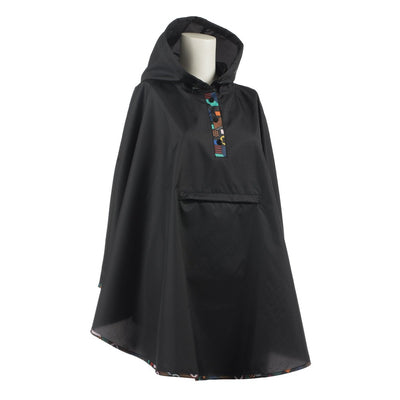 Women's Rain Poncho in Geometry Right Angled View