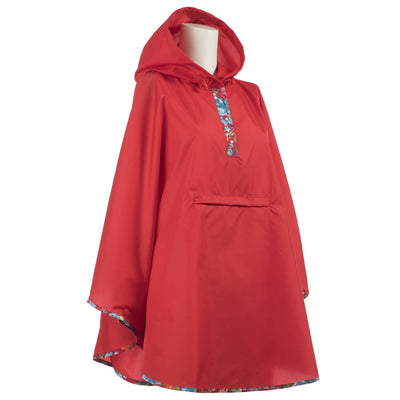 Women's Rain Poncho in Liberty Floral Right Angled View