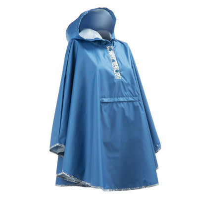 Women's Rain Poncho in Country Lace Right Angled View