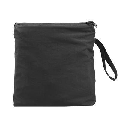 Reversible Rain Poncho in Black Closed in Carrying Pouch
