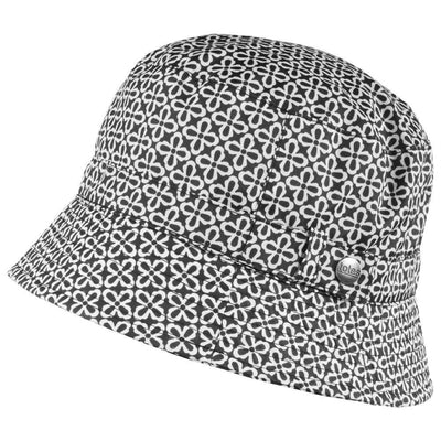 totes rain hat in black and white