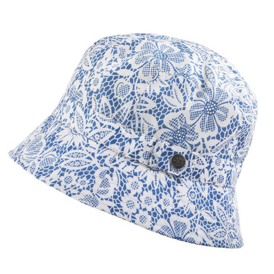 Bucket Rain Hat in Country Lace Side Profile