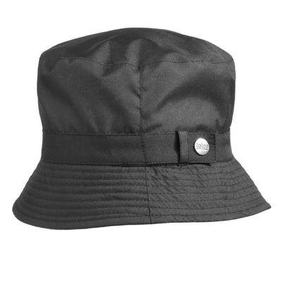 Bucket Rain Hat in Black Straight On View