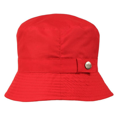 Totes rain hat in red