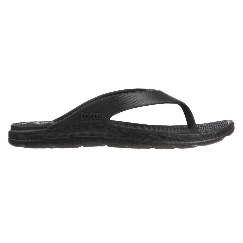 Women's Sol Bounce Ara Thong Sandal in Black Profile