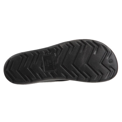 Women's Sol Bounce Ara Thong Sandal in Black Bottom Tread View