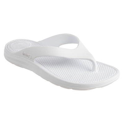 Women's Sol Bounce Ara Thong Sandal in White Right Angled View