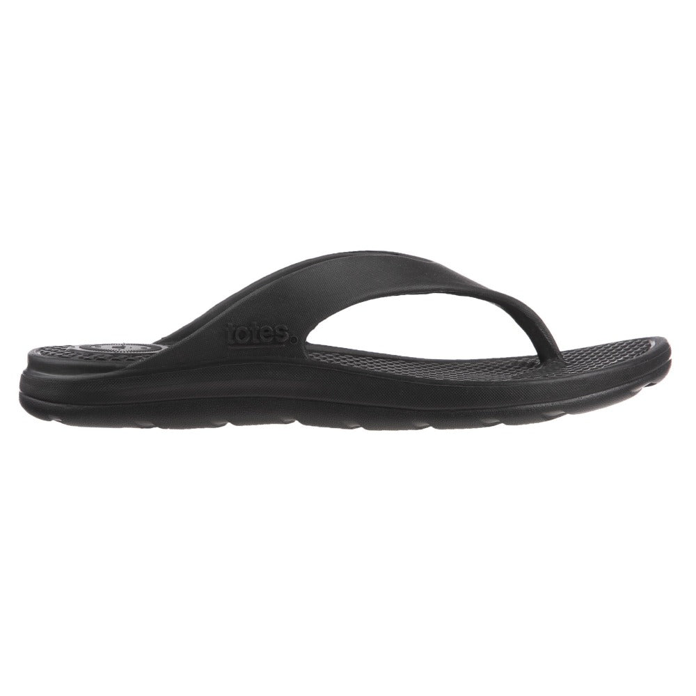 Men's Sol Bounce Ara Thong in Black Profile