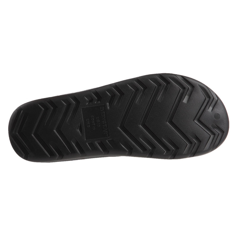 Men's Sol Bounce Ara Thong in Black Bottom Sole Tread
