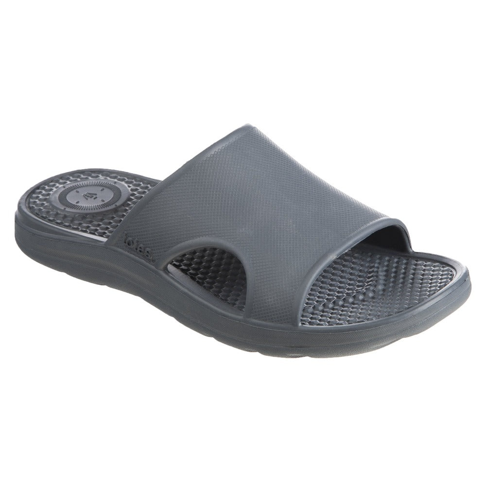Men's Sol Bounce Ara Vented Slide in Mineral Right Angled View