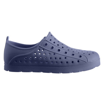 Kid's Sol Bounce Splash & Play Eyelet Sneaker in Navy Blue Profile