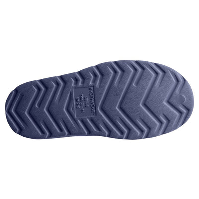 Kid's Sol Bounce Splash & Play Eyelet Sneaker in Navy Blue Bottom Sole Tread