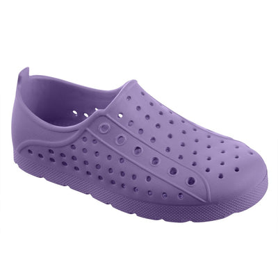 Kid's Sol Bounce Splash & Play Eyelet Sneaker in Paisley Purple Right Angled View