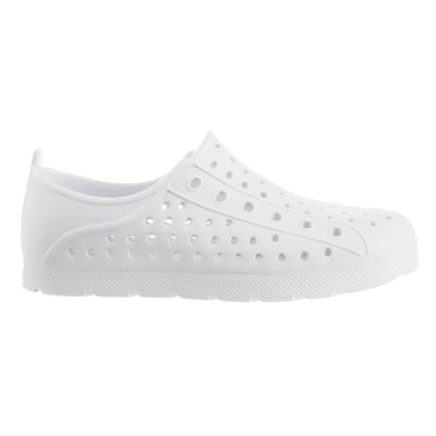Kid's Sol Bounce Splash & Play Eyelet Sneaker in White Profile