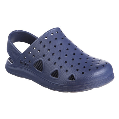Kid's Sol Bounce Splash & Play Clog in Navy Blue Right Angled View