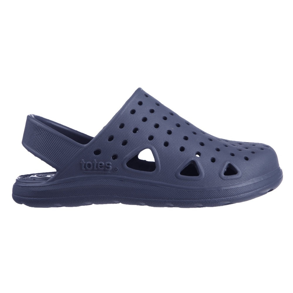 Kid's Sol Bounce Splash & Play Clog in Navy Blue Profile